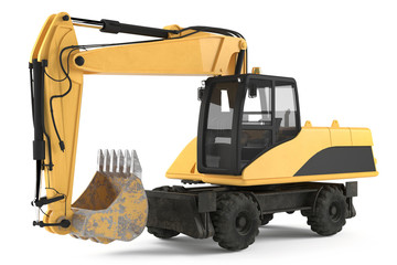 Wheel excavator isolated