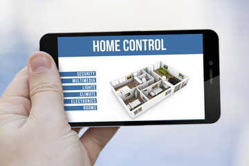 home control remote on cell phone