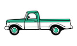 Fototapety Pickup truck. Classic truck. Isolated vector illustration
