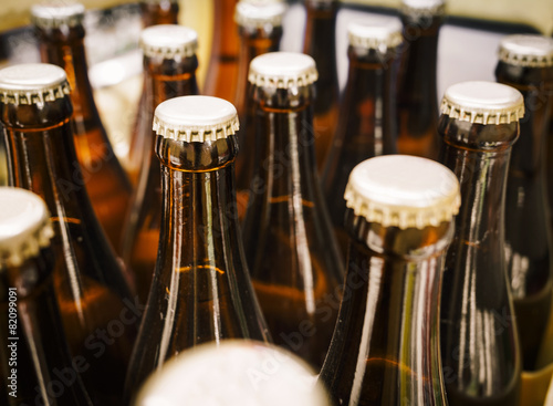 Beer Bottle cap Close up Poster