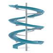 canvas print picture - Aquapark slide tube isolated