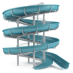 Aquapark slide tube isolated
