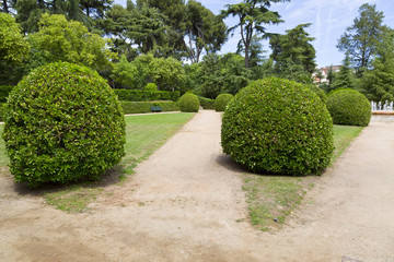 The Park Jardins Pedralbes in Barcelona, Spain