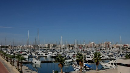 Yacht harbor in southern Spain