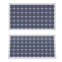 Solar panels isolated