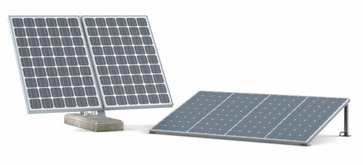 Solar panels isolated