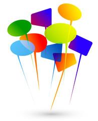 discussione, dialogo, comunità, colori