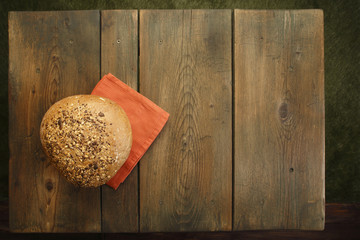 Bread on kitchen table