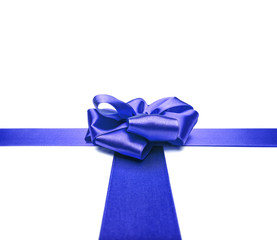 Blue ribbons with bow