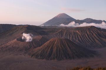 Sunrise over the Tengger Caldera in East Java, Indonesia.