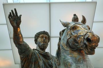 Roman bronze equestrian statue of Marcus Aurelius