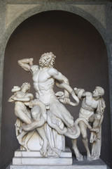 Hellenistic marble statue Laocoon and his sons