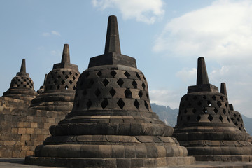 Borobudur Temple, Central Java, Indonesia.
