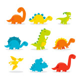 Cute Fun Cartoon Dinosaurs © totallyjamie