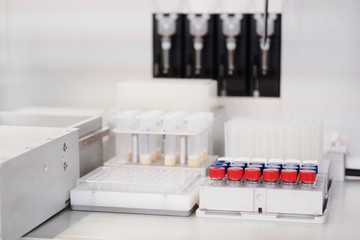 Laboratory equipment. Test tubes
