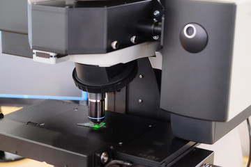 Image of the professional medical laboratory microscope.