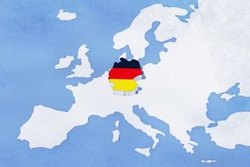 Mappa EU con rilievo colori Germania grunge
