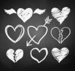 Chalked hearts. - 82105646