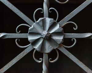 Detalle ornamental de una reja