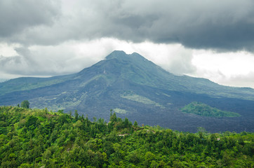 Volcano Mount view from Kintamani, Bali, Indonesia
