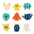 Cute Furry Monsters Set - 82108660