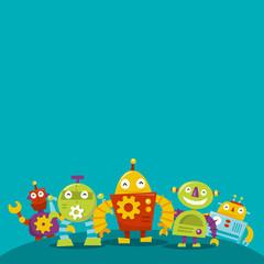 Happy Robots copy space