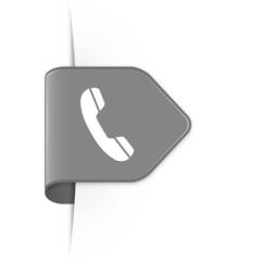 Phone - Grauer Sticker Pfeil mit Schatten