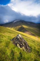 High mountain range. Natural landscape