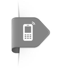 Mobile phone - Grauer Sticker Pfeil mit Schatten