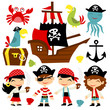 Retro Pirate Adventure Set - 82109285