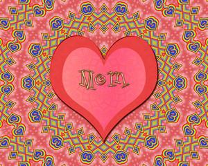 Love heart in beautiful mandala good vibes for mom