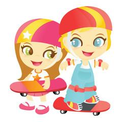 Happy Skateboard Kids