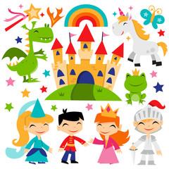 Retro Magical Fairytale Kingdom Set
