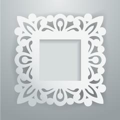Paper Cut Vintage Lace Ornate Frame