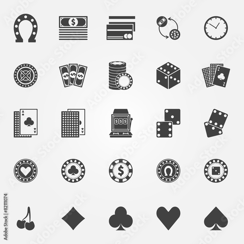Casino icons vector set - 82111074