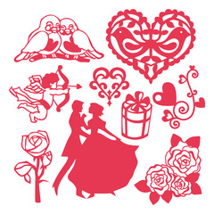 All About Love Vector Design Elements