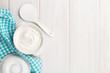Sour cream in a bowl - 82111805