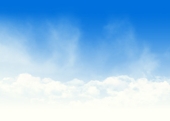 Blue sky and clouds abstract illustration