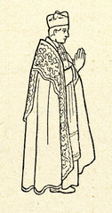 Catholic priest wearing cope