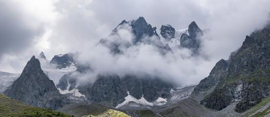 High mountain peak. Natural landscape