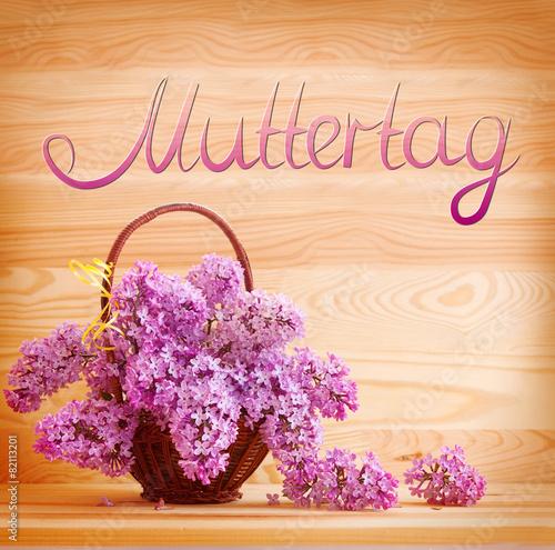 Foto op Canvas Lilac Purple lilac bouquet .