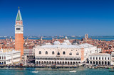 Stunning view of St Mark Square in Venice on a sunny day
