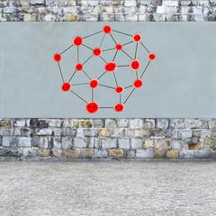 Network konzept - 3d Render