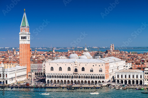 Fotobehang Venetie Stunning view of St Mark Square in Venice on a sunny day