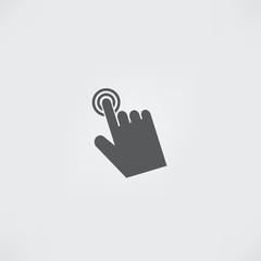 Cursor hand icon. Click sign pointer