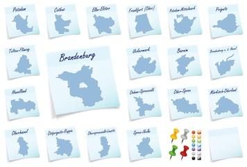 Karte von Brandenburg