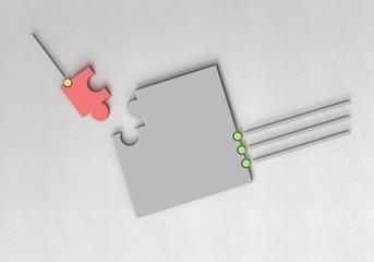 Puzzle Leitung Punkt