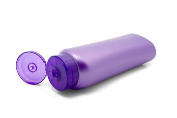 Purple bottle isolated on white background