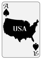 USA Playing Card Ace Spades