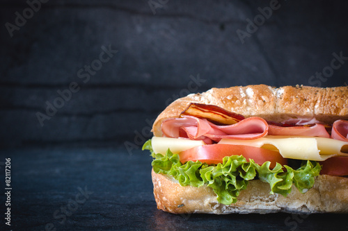 Foto op Canvas Restaurant Sandwich snack